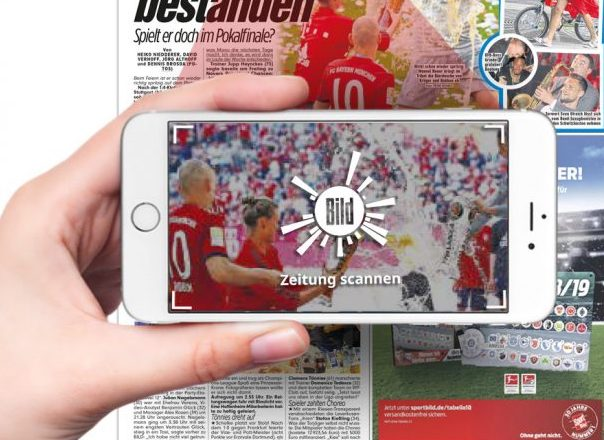 Print scannbar machen – BILD Augmented Reality Videos in Zeitungen